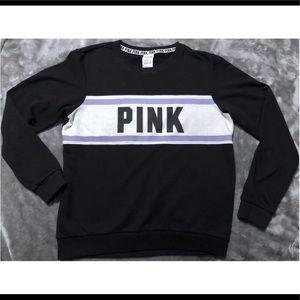 Victoria's Secret PINK black crew sweater size M